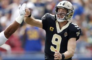 Brees infortunio vs Rams 2019