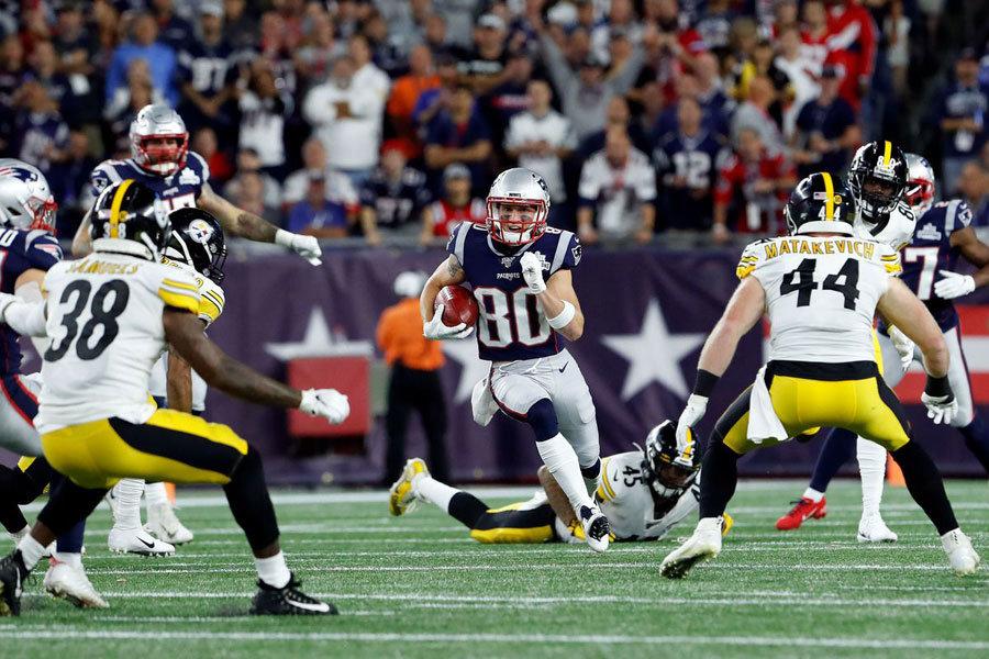 Gunner Olszewski Patriots vs Steelers 2019