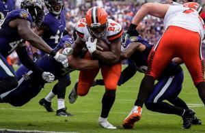 Nick Chubb Browns Ravens 2019