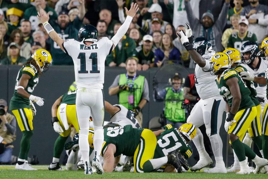 Wentz Packers Eagles 2019