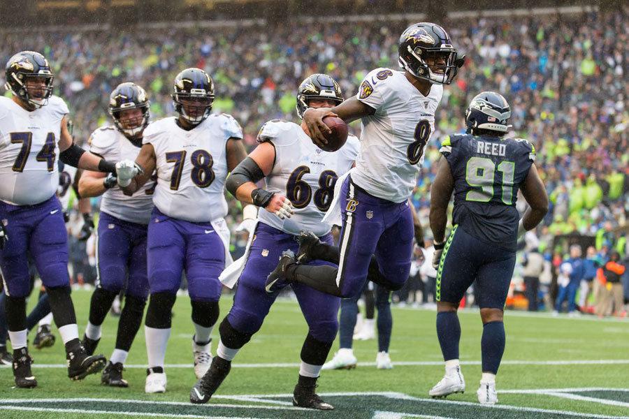 NFL 2019 Lamar Jackson Ravens vs Seahawks