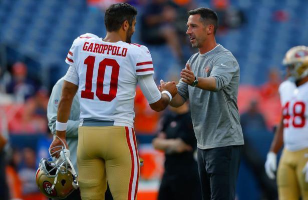Kyle Shananan e Jimmy Garoppolo 49ers 2019