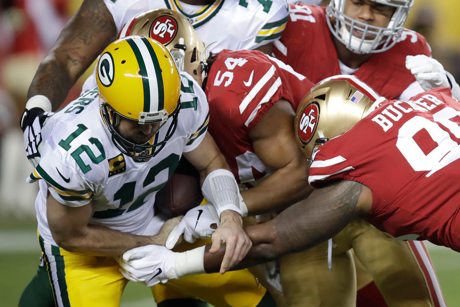 NFL 2019 Aaron Rodgers in 49ers vs Packers