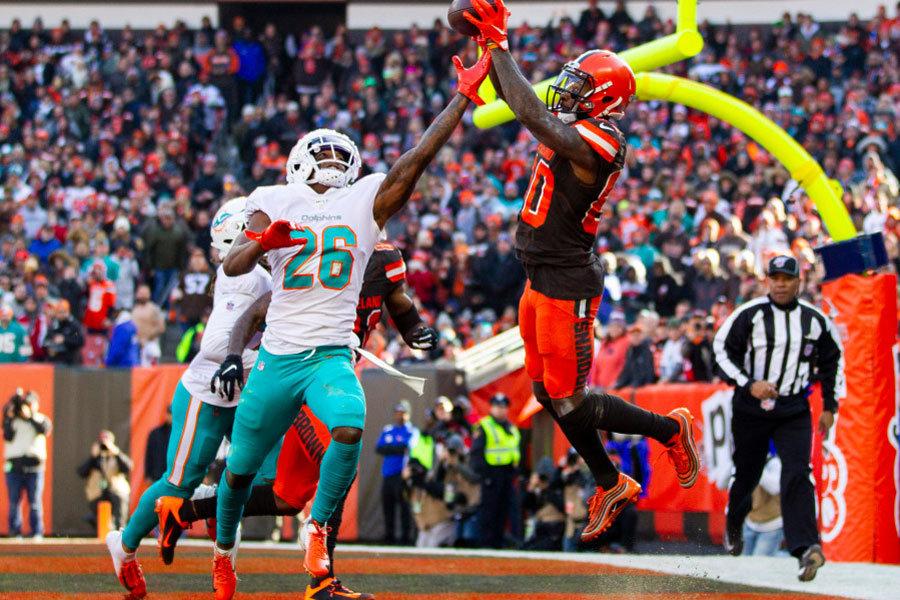 NFL 2019 Jarvis Landry Browns vs Dolphins
