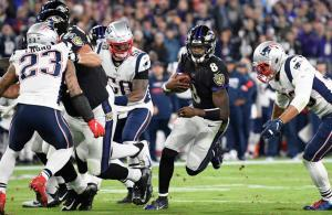 NFL 2019 Lamar Jackson vs Patriots