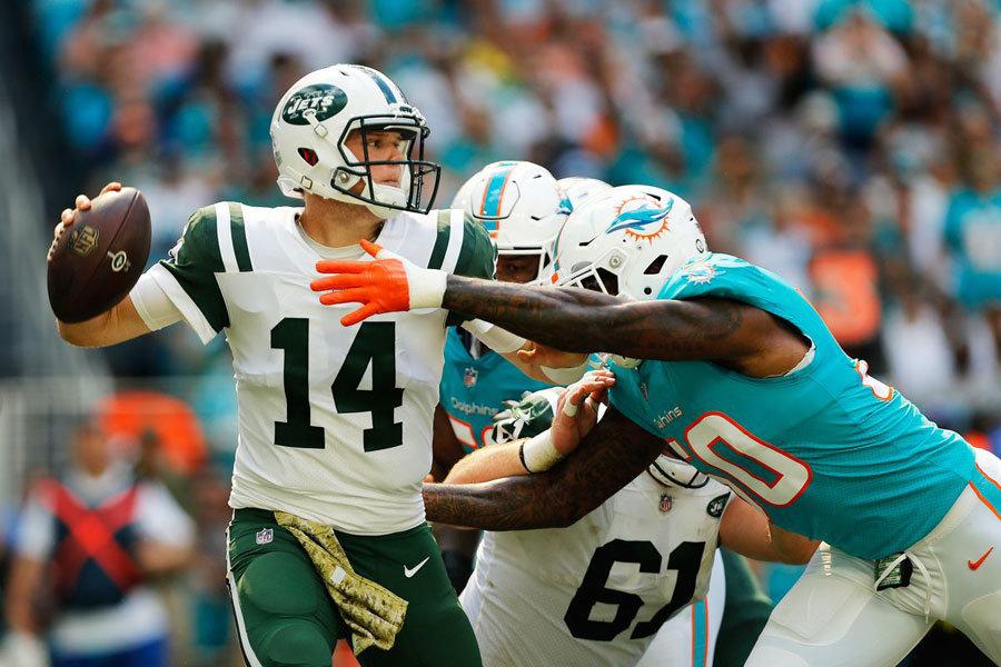 NFL 2019 Darnold Jets vs Dolphins