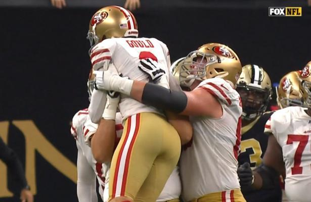 NFL 2019 Gould 49ers vs Saints