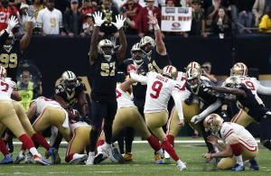 NFL 2019 Gould Saints vs 49ers