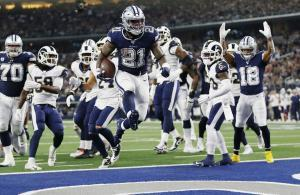 NFL 2019 Zeke Elliott Cowboys vs Rams