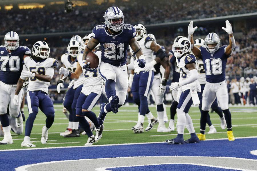NFL 2019 Zeke Elliott Cowboys vs Rams