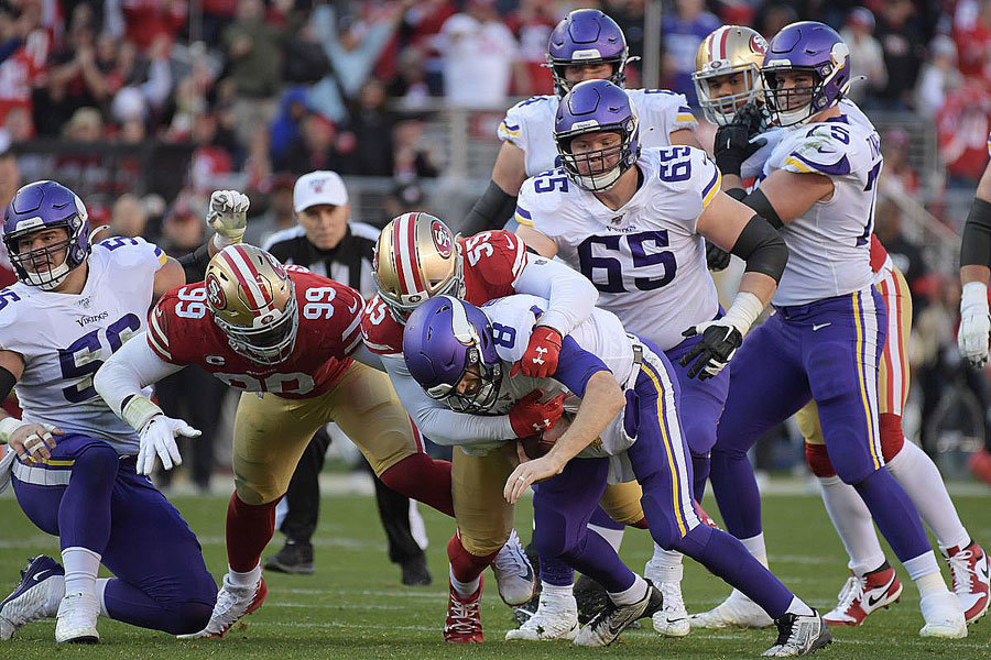 NFL 2019 divisional NFC Ford 49ers Vikings