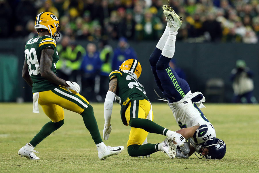 NFL 2019 divisional Packers Seahawks