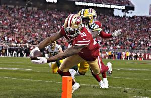 Raheem Mostert 2019 NFC Championship 49ers Packers