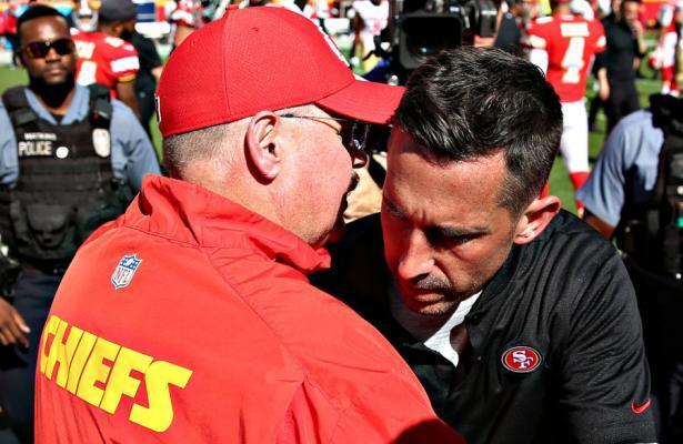 Andy Reid e Kyle Shanahan Super Bowl LIV