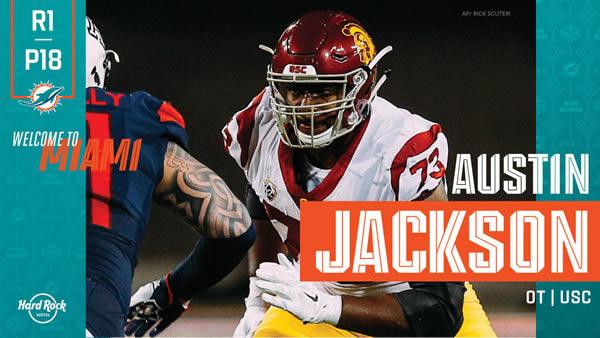 Austin Jackson Miami Dolphins Draft 2020