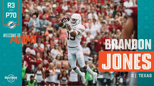 Brandon Jones Miami Dolphins Draft 2020
