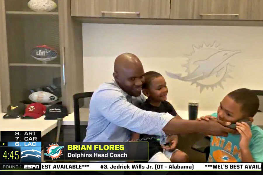 Brian Flores Miami Dolphins Draft 2020
