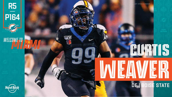 Curtis Weaver Miami Dolphins Draft 2020