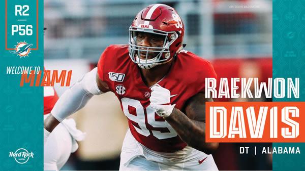 Raekwon Davis Miami Dolphins Draft 2020