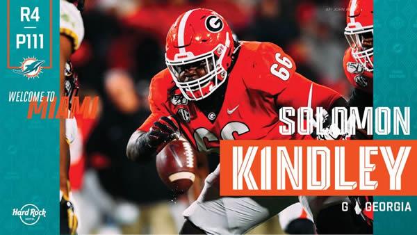 Solomon Kindley Miami Dolphins Draft 2020