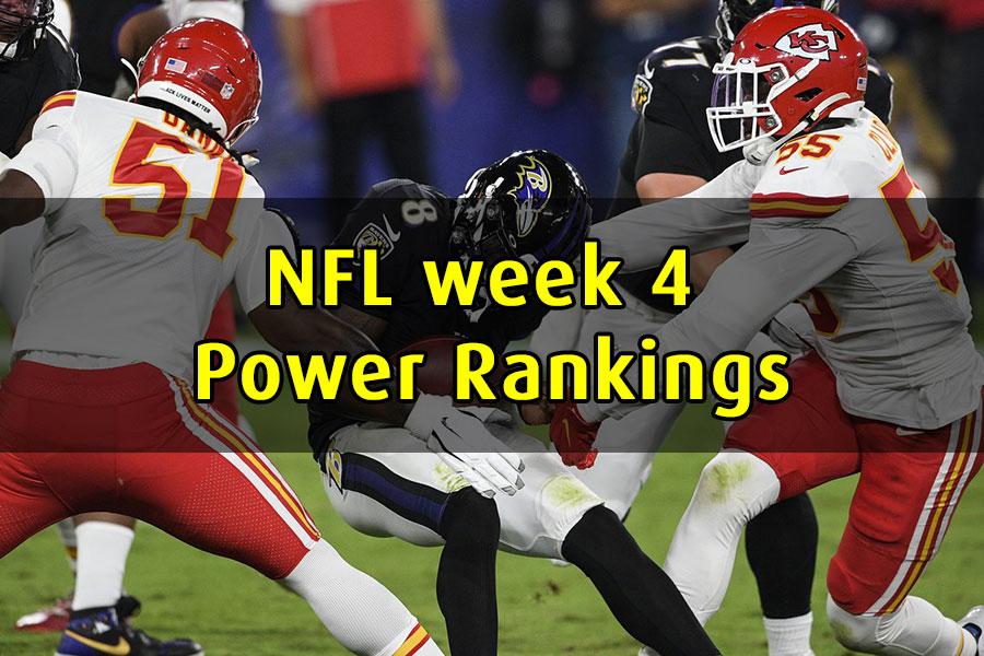NFL 2020 Power Rankings week 4