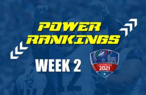 FIDAF Power Rankings 2021 week 2