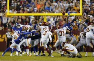 Dustin Hopkins Washington FT vs NY Giants week 2 NFL 2021