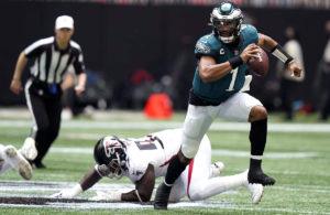 Falcons vs Eagles week 1 NFL 2021 Jalen Hurts