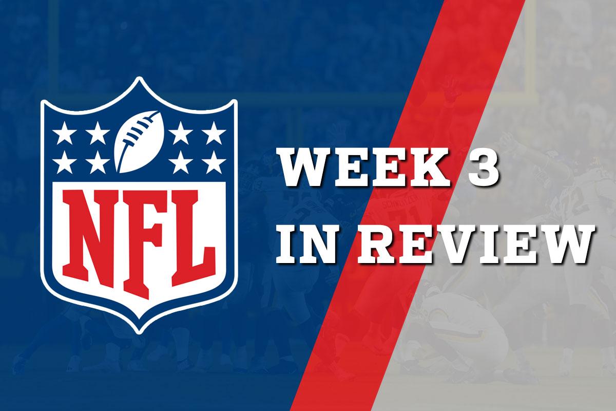 Week in review 3 - NFL 2021