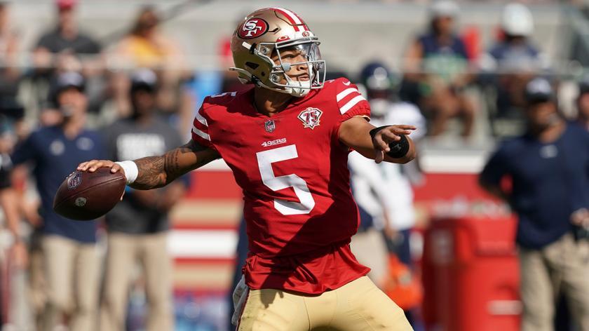 Il rookie quarterback dei 49ers Trey Lance